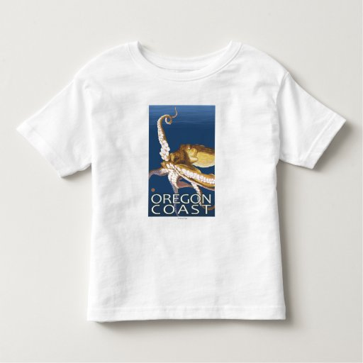 Oregon Coast Octopus Toddler T-shirt
