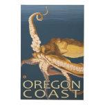 Oregon Coast Octopus Wood Wall Decor
