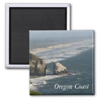 Oregon Coast Rocks 2 Inch Square Magnet