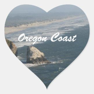Oregon Coast Rocks Heart Sticker