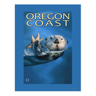 Oregon Coast Sea Otter Postcard