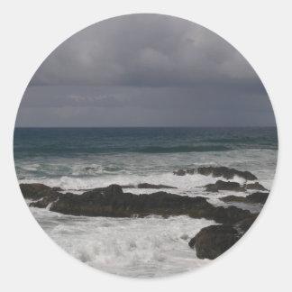 Oregon Coast Round Stickers