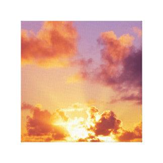 Oregon Coast Sunset at the Beach Canvas Print