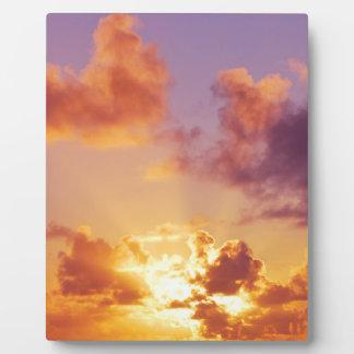 Oregon Coast Sunset at the Beach Photo Plaques