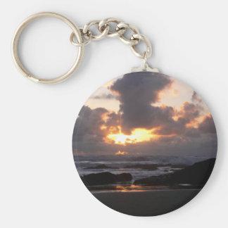 Oregon Coast Sunset Keychain