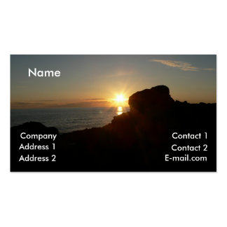 Oregon Coast Sunset Profile Card Business Card Templates