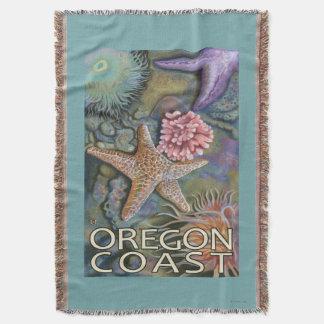 Oregon Coast Tidepool Throw Blanket