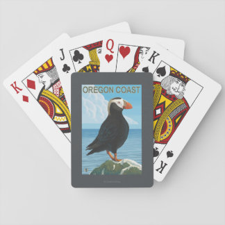 Oregon Coast Tufted Puffin Playing Cards