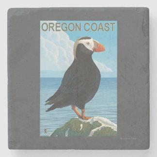 Oregon Coast Tufted Puffin Stone Coaster