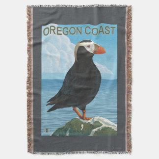 Oregon Coast Tufted Puffin Throw