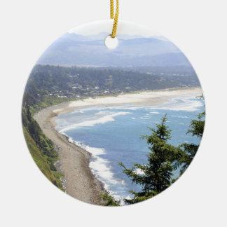 Oregon Coast View Ceramic Ornament