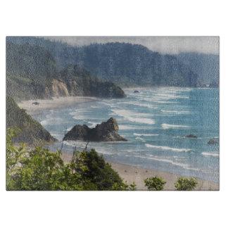 Oregon Coastline Large Glass Cutting Board