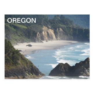 Oregon Coastline Travel Photo Postcard