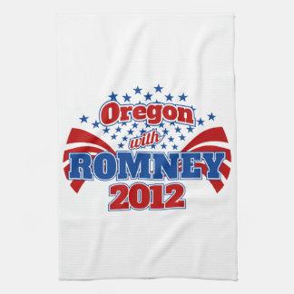 Oregon con Romney 2012 Toallas