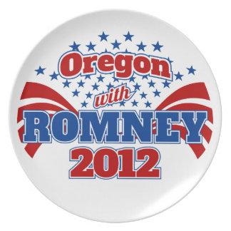 Oregon con Romney 2012 Platos De Comidas
