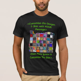 Oregon Customizable Colorful T-Shirt - Customized