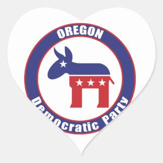 Oregon Democratic Party Heart Sticker