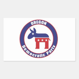 Oregon Democratic Party Rectangular Sticker