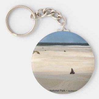 Oregon Dunes National Park 4 Wheeler Photo Art Basic Round Button Keychain