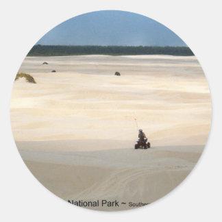 Oregon Dunes National Park 4 Wheeler Photo Art Classic Round Sticker