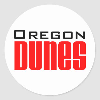 oregon dunes round stickers
