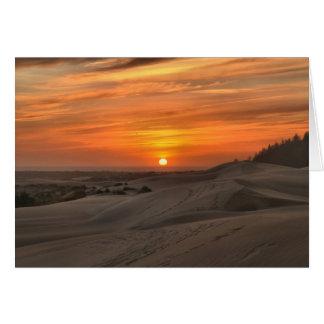 Oregon Dunes Sunset Card