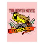 Oregon el estado Meadowlark del castor Postal