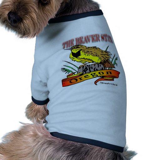 Oregon el estado Meadowlark del castor Camisas De Perritos