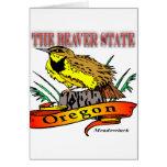 Oregon el estado Meadowlark del castor Felicitación