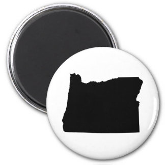 Oregon en blanco y negro imán redondo 5 cm