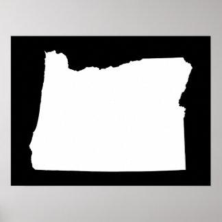 Oregon en blanco y negro posters