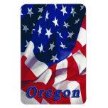 Oregon en la bandera los Estados Unidos de América Iman