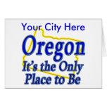 Oregon es el único lugar a ser tarjeta de felicitación