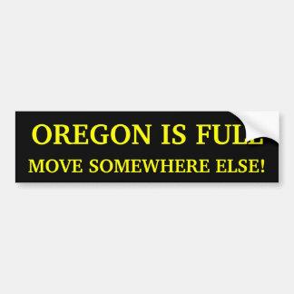 ¡Oregon es movimiento completo en alguna parte otr Etiqueta De Parachoque