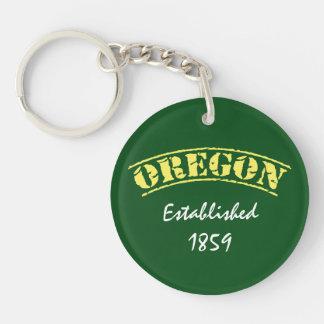 Oregon Established Acrylic Keychains