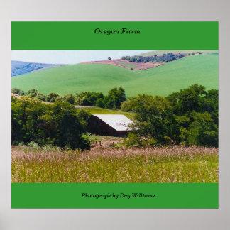 Oregon Farm Poster