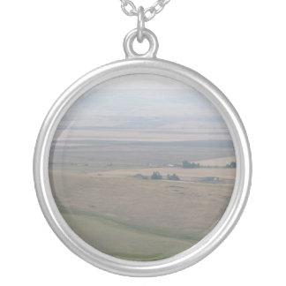 Oregon Farmland Round Pendant Necklace