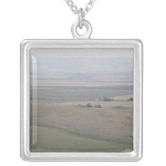 Oregon Farmland Square Pendant Necklace