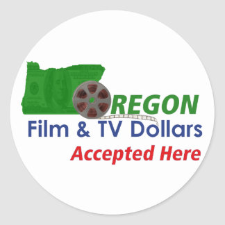 Oregon Film and TV Dollars Accepted Here Stickers