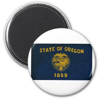Oregon Flag 2 Inch Round Magnet