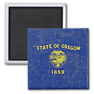 OREGON FLAG 2 INCH SQUARE MAGNET