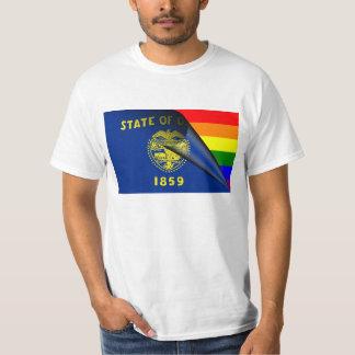 Oregon Flag Gay Pride Rainbow T-Shirt