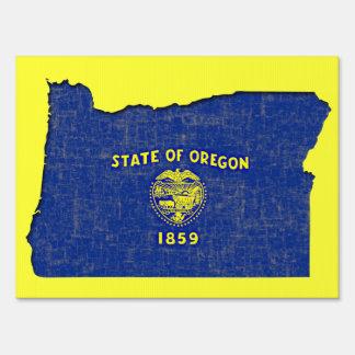 OREGON FLAG LAWN SIGN