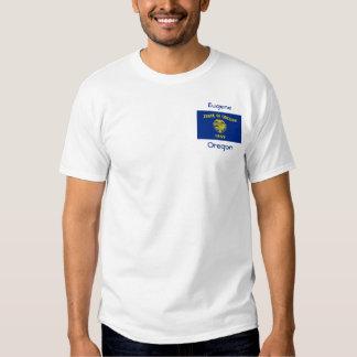 Oregon Flag Map City T-Shirt
