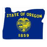Oregon Flag Map Postcard