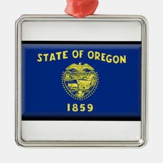 Oregon flag christmas tree ornament