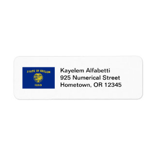 Oregon Flag Return Address Label
