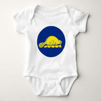 Oregon Flag Theme 01 Baby Bodysuit