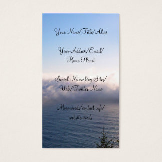 Oregon Fog Business Card