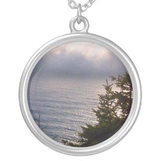 Oregon Fog Round Pendant Necklace